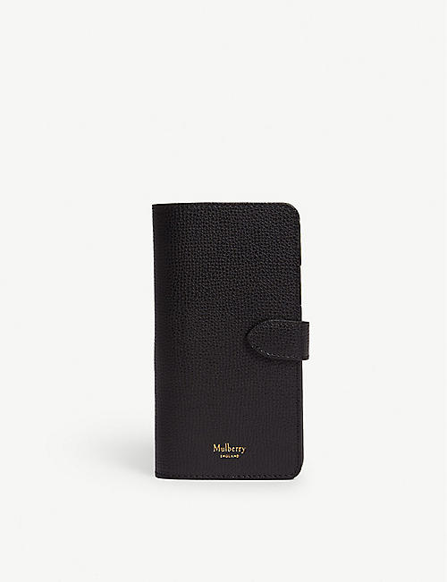 b8a006616bb2 MULBERRY Natural grained leather iPhone X XS flip case
