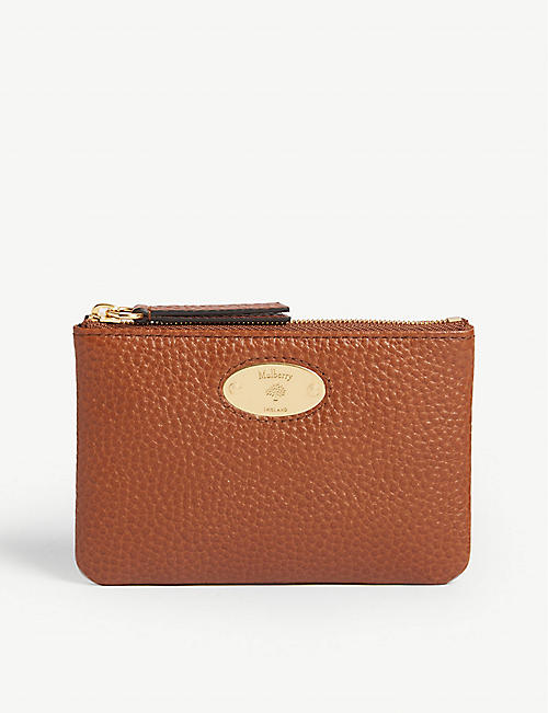 MULBERRY: Zipped small grained-leather coin pouch