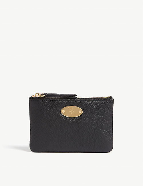 MULBERRY: Oval plaque leather coin pouch