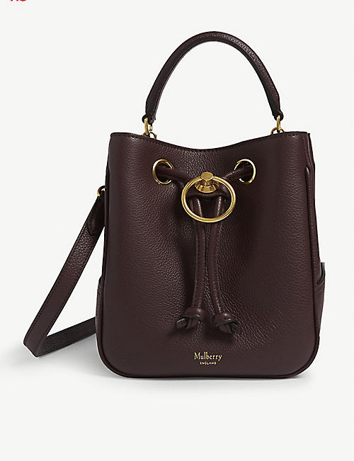 MULBERRY Hampstead small leather bucket bag