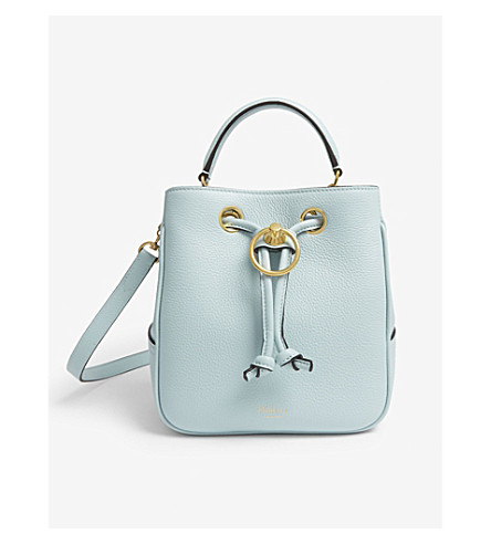 MULBERRY Hampstead leather bucket bag (Light+antique+blue 03db768733a06
