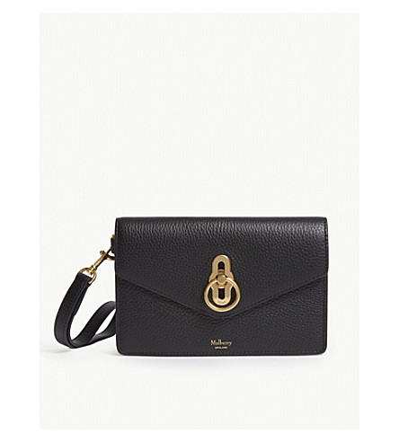 a09812e55668 ... MULBERRY Amberley leather phone clutch (Black. PreviousNext