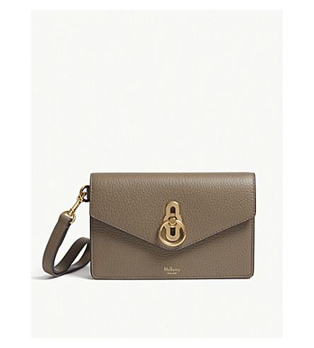 MULBERRY Amberley leather iphone clutch (Clay adb570f01c43a