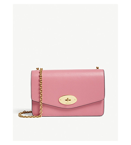 ad726da56d8c ... MULBERRY Darley small leather cross-body bag (Geranium+pink.  PreviousNext