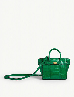 MULBERRY Bayswater micro croc-embossed leather tote