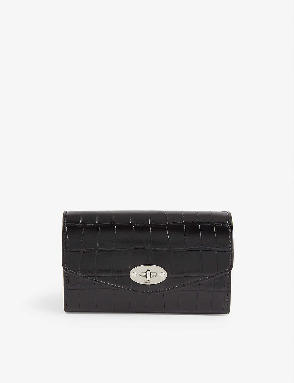 MULBERRY: Darley medium croc-embossed leather wallet