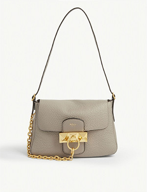 MULBERRY Keeley mini grained-leather satchel