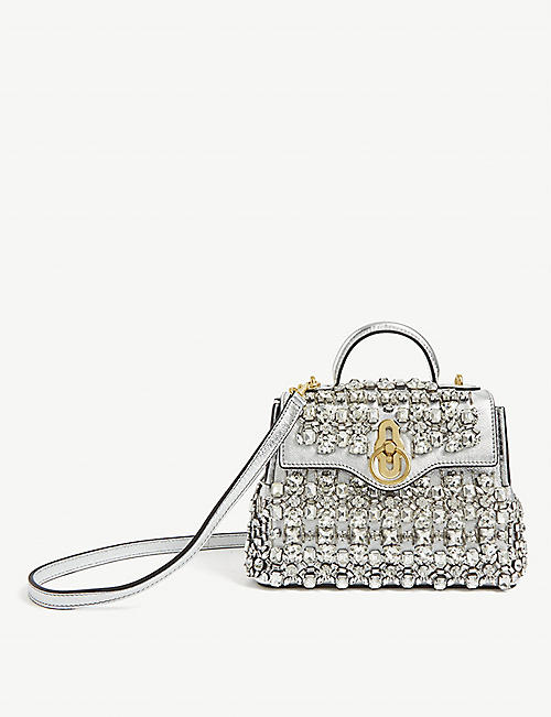 MULBERRY Micro Seaton crystal-embellished nappa leather bag