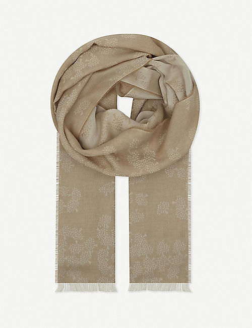 MULBERRY: Tamara cotton scarf