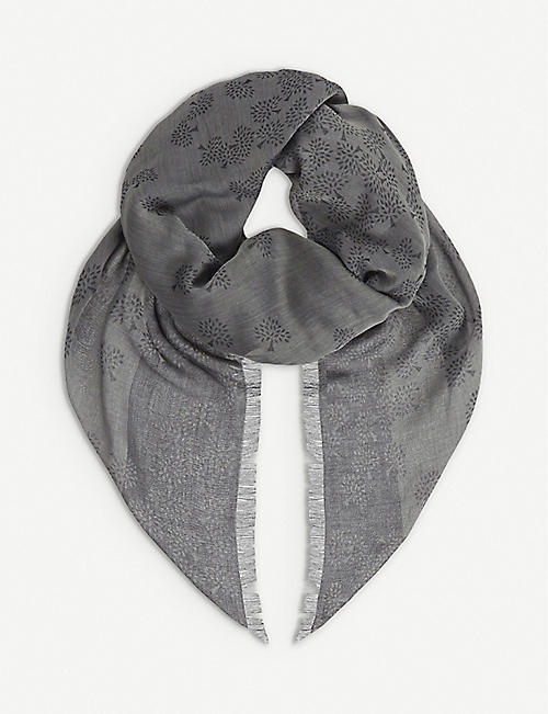 MULBERRY: Tamara Square 140 cotton scarf