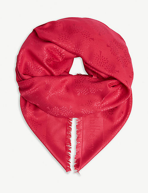 MULBERRY Silk and cotton scarf