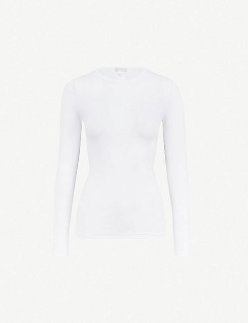 HANRO: Soft Touch long-sleeved stretch-jersey top