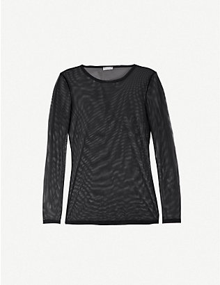 HANRO: Smooth Illusion long-sleeved mesh top