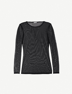 HANRO Smooth Illusion long-sleeved mesh top