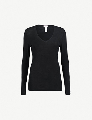 HANRO Woolen Silk wool and silk-blend top