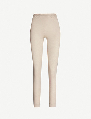HANRO High-rise silk and cashmere-blend leggings