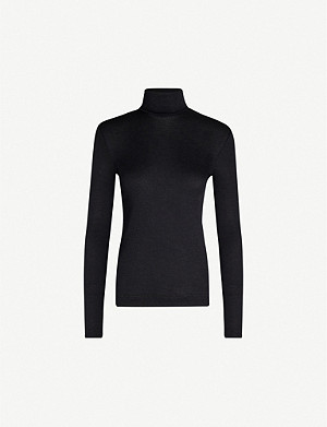 HANRO Turtleneck silk and cashmere-blend jumper