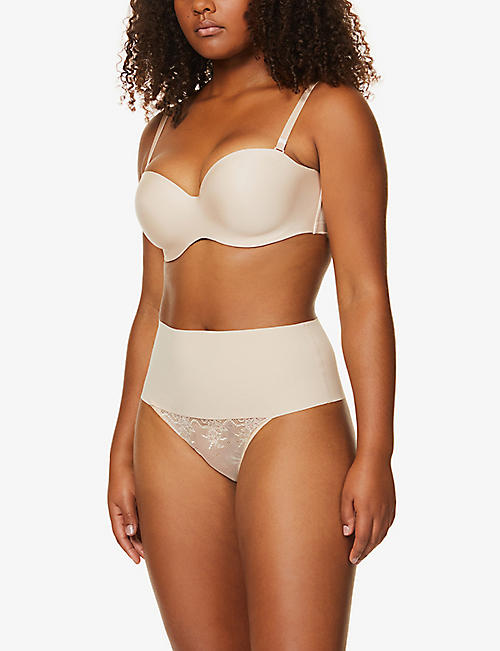 SPANX Undie-tectable high-rise jersey thong