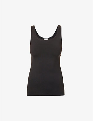 HANRO: Touch Feeling stretch-woven vest top
