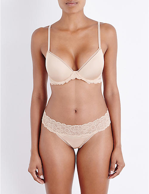 CALVIN KLEIN Seductive Comfort Multiway stretch-lace and jersey underwired bra