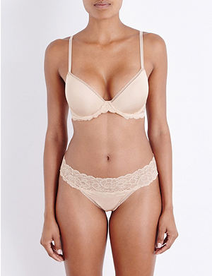 6af65d97e3 CALVIN KLEIN Seductive Comfort Multiway stretch-lace and jersey underwired  bra