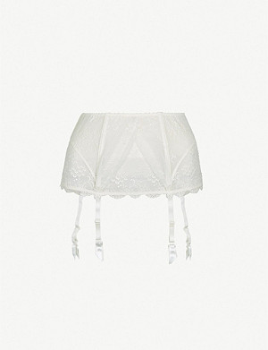 9544bf4f6 WOLFORD - Satin and jersey suspender belt
