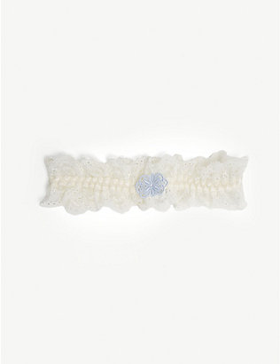 AUBADE: L'amour lace butterfly garter