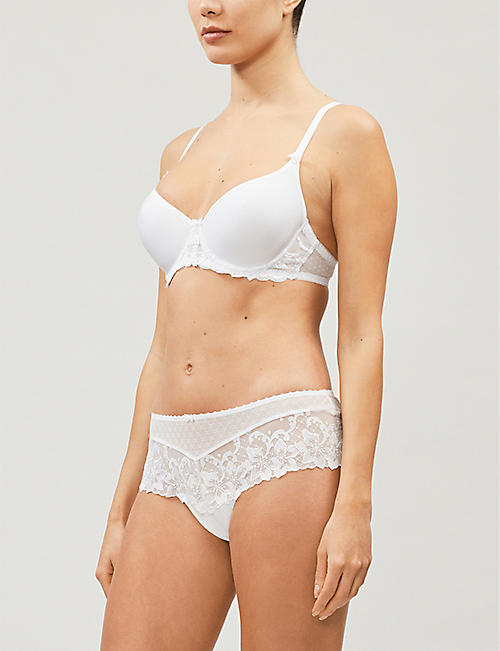 AUBADE Au Bal de Flore embroidered-lace spacer bra