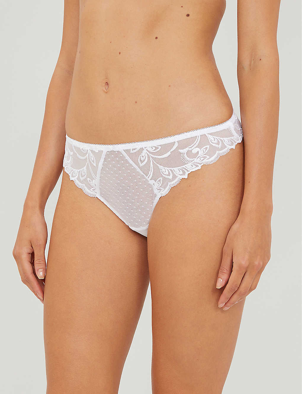 AUBADE: Au Bal mid-rise stretch-lace briefs