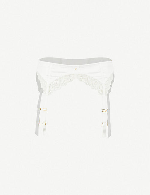 PANACHE: Quinn satin suspender belt
