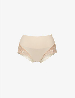 SPANX: Undie-tectable floral-lace hipster briefs