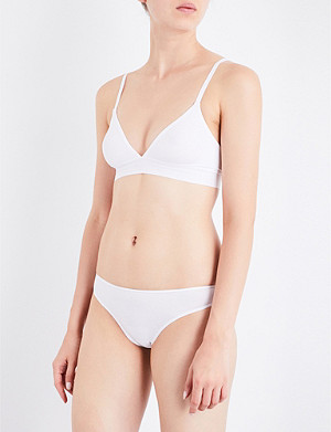 DKNY Classic non-wired cotton-jersey bra