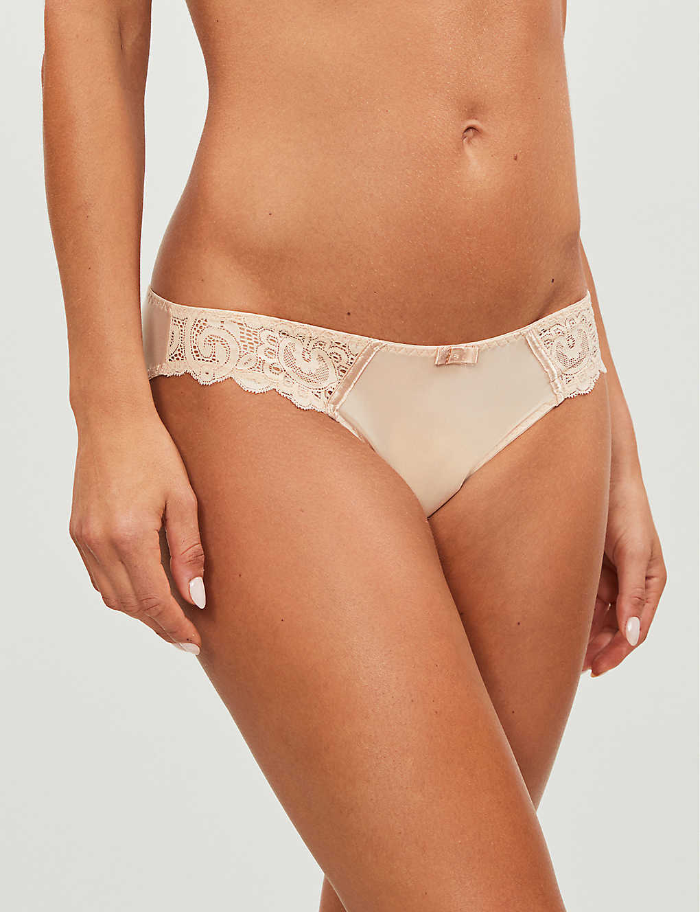 MAISON LEJABY: Gaby lace and satin briefs