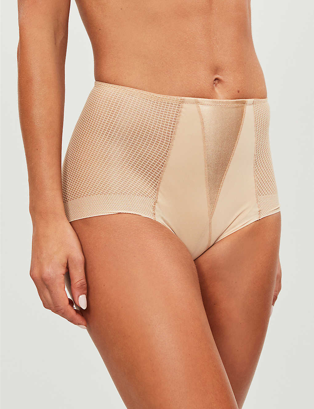 MAISON LEJABY: Silhouette mesh shaping briefs