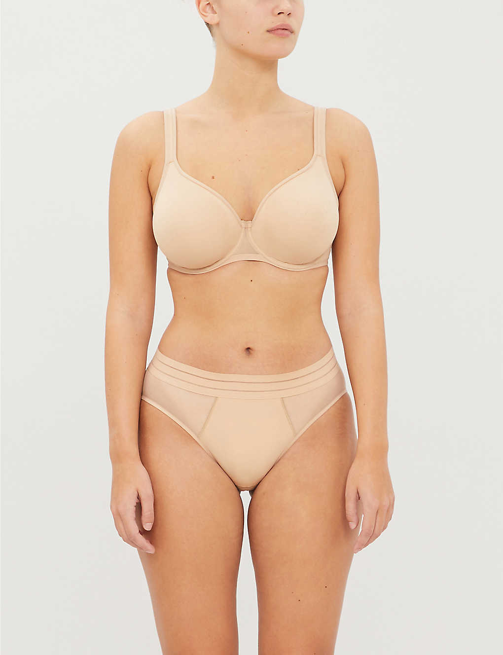 MAISON LEJABY: Nufit padded mesh underwired bra