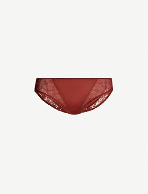 MAISON LEJABY June low-rise stretch-jersey and lace briefs