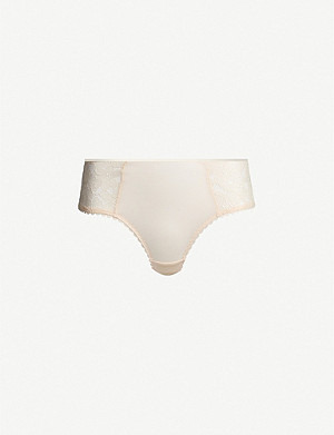 MAISON LEJABY June low-rise stretch-jersey shorty briefs