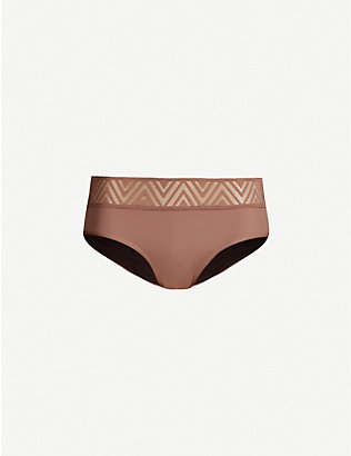 THINX: Hiphugger lace and stretch-cotton briefs