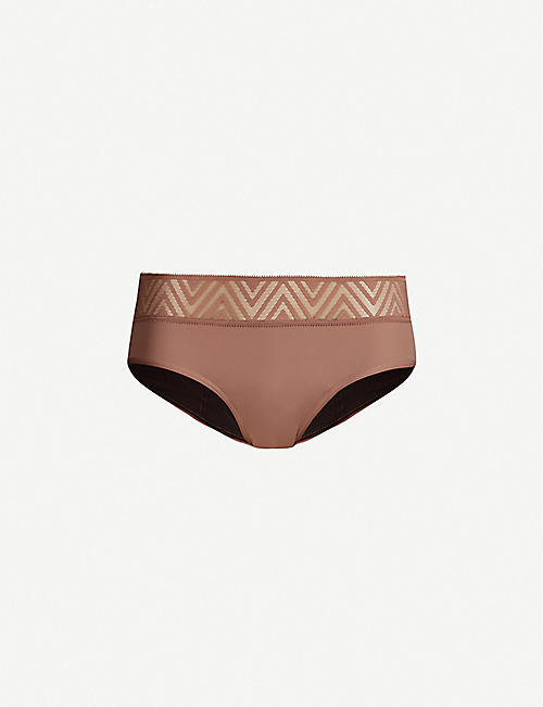 THINX: Hiphugger lace and organic stretch-cotton briefs