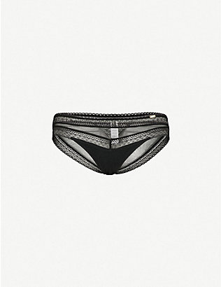 CHANTELLE: Festivité lace and mesh briefs