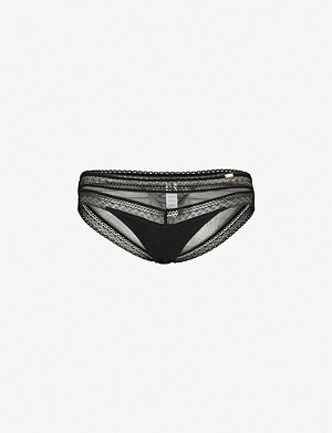 CHANTELLE Festivité lace and mesh briefs