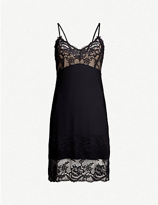 FANTASIE: Bronte lace and satin chemise