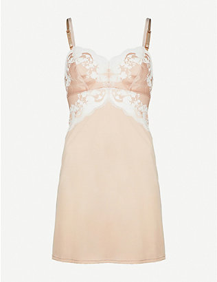 WACOAL: Lace Affair satin and lace chemise