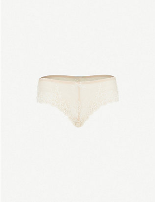 WACOAL: Embrace Lace stretch-lace tanga briefs