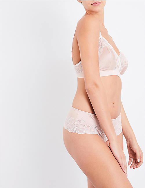 WACOAL Lace Affair stretch-lace and satin soft-cup bra