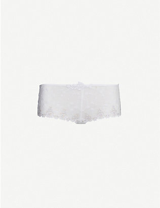 PASSIONATA: White Nights lace shorty briefs
