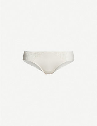 PASSIONATA: Ironic stretch-lace and stretch-jersey tanga briefs
