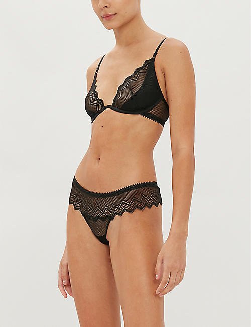 HEIDI KLUM INTIMATES Evening Lily quarter cup lace bra