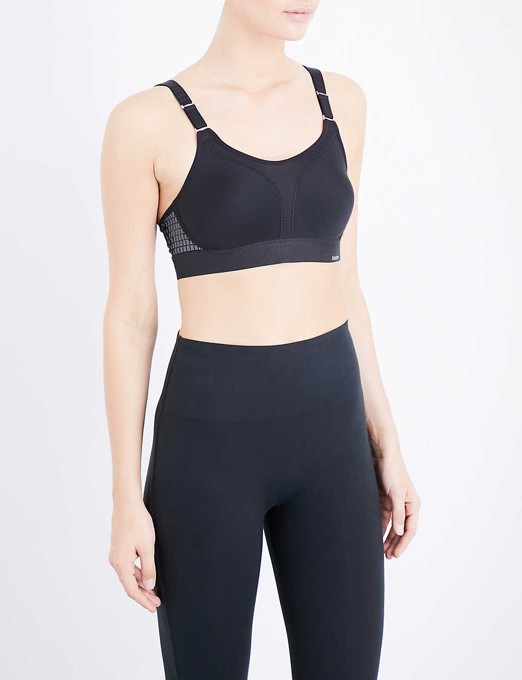 TRIUMPH: Triaction stretch-cotton sports bra