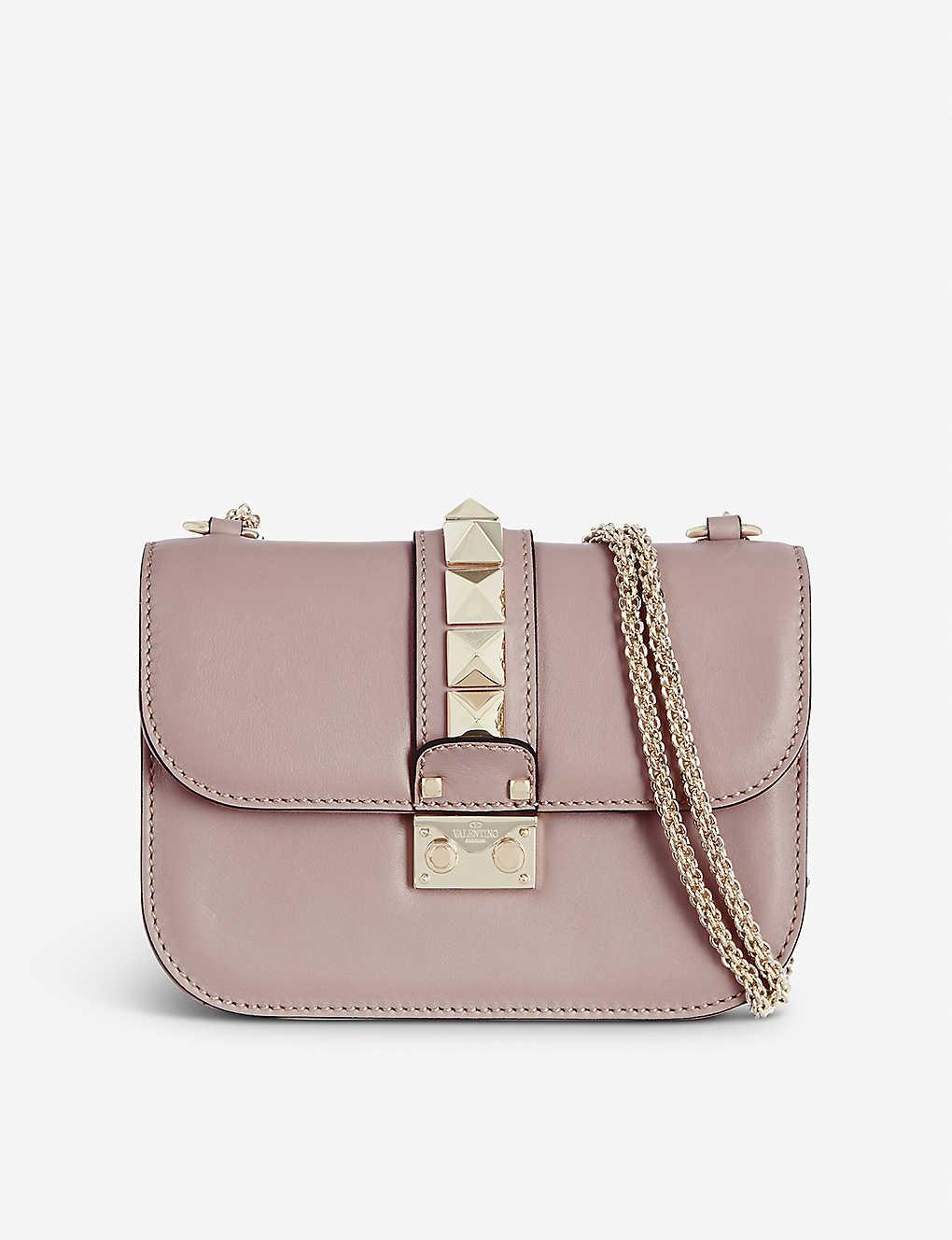 9a2e95b2c0 VALENTINO - Stud lock small shoulder bag   Selfridges.com